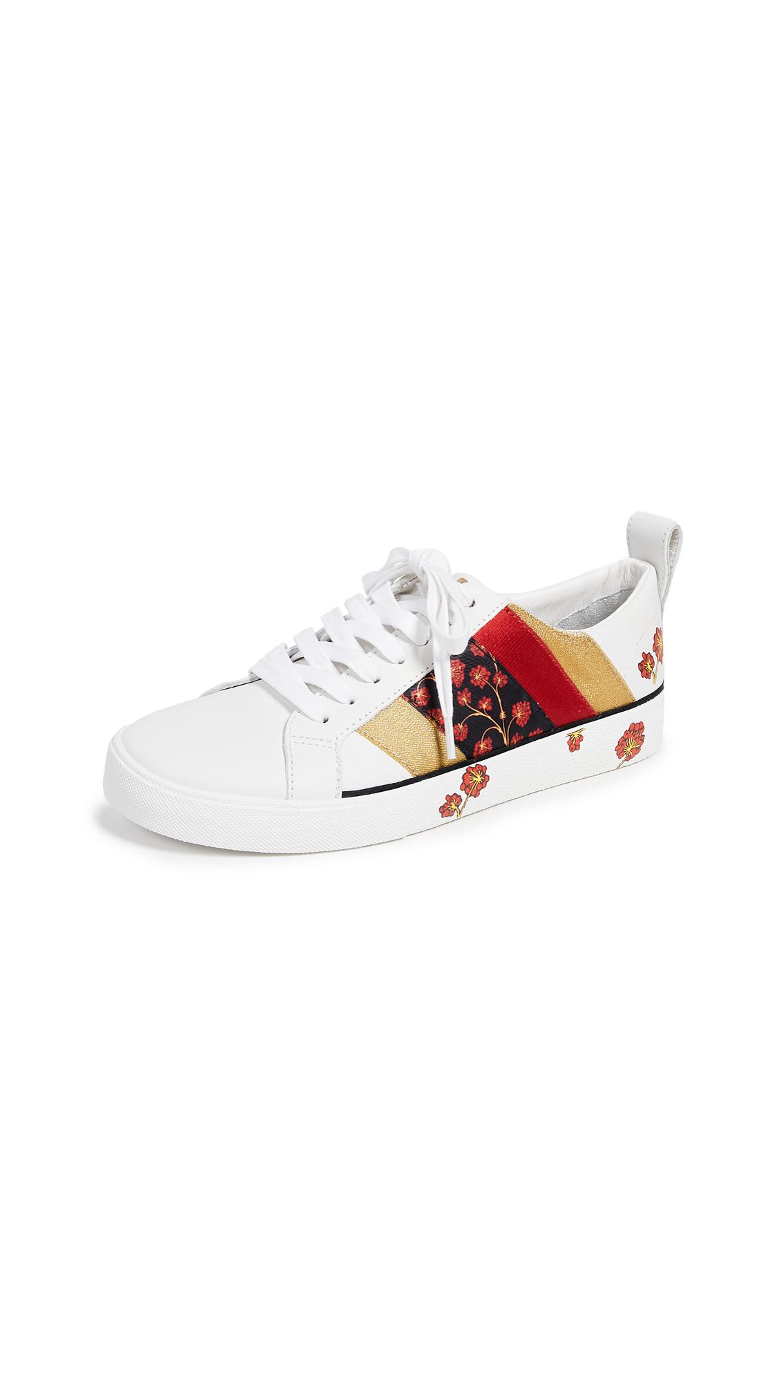 Diane von Furstenberg Tess 9 Sneakers - White/Red