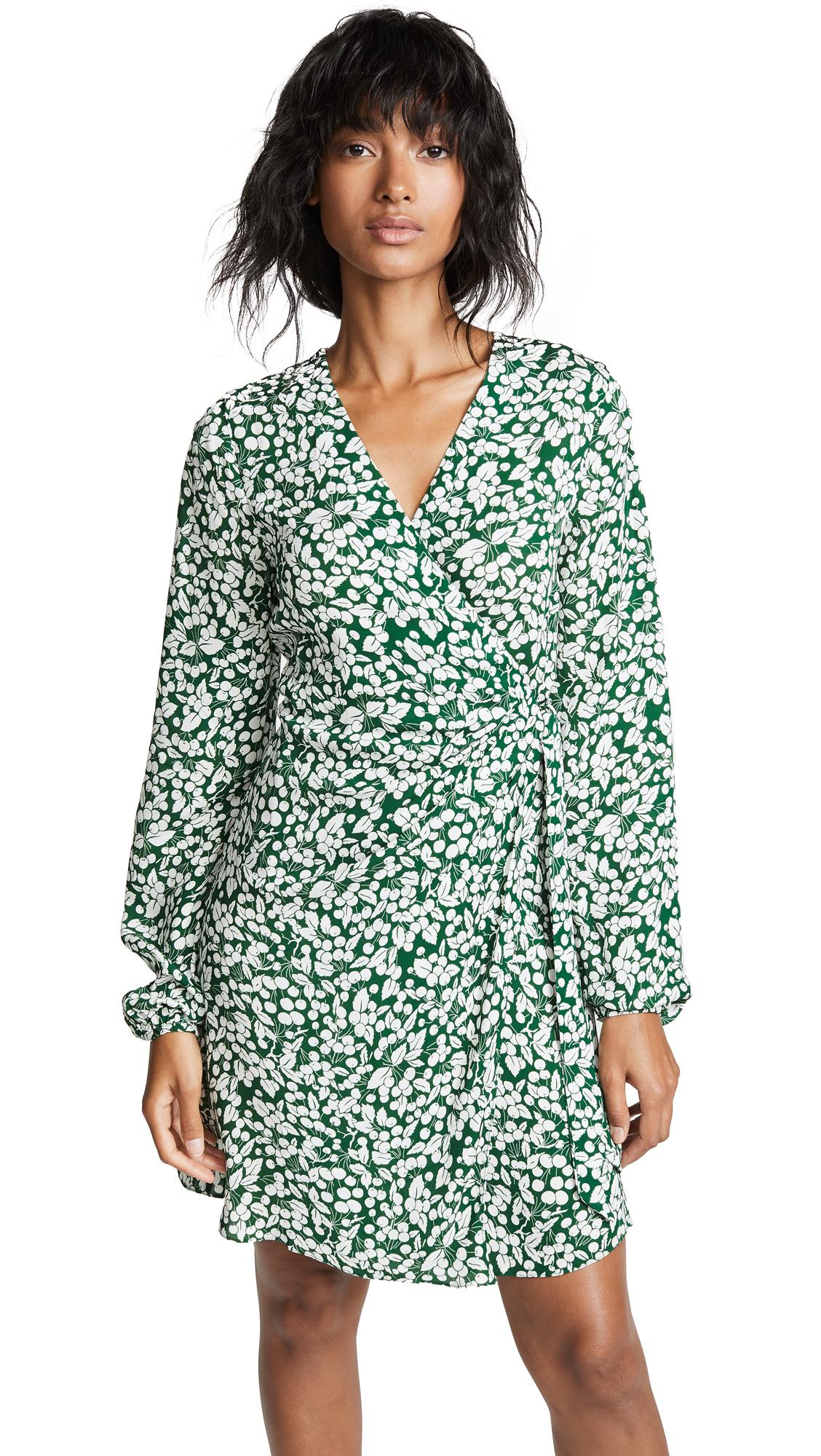 Diane von Furstenberg Wrap Dress In Cherry Garden Pine