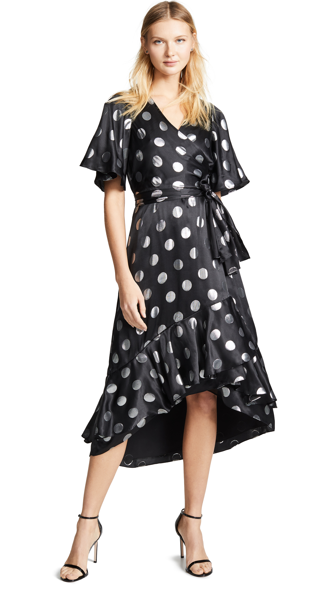 Diane von Furstenberg Sareth Dress - Black/Silver