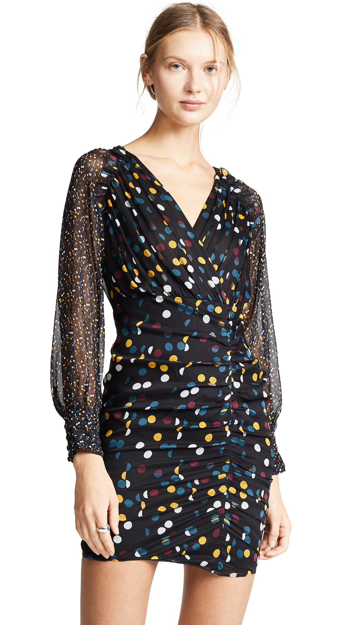 Diane von Furstenberg Betti Dress - Eclipse Dot Black Multi