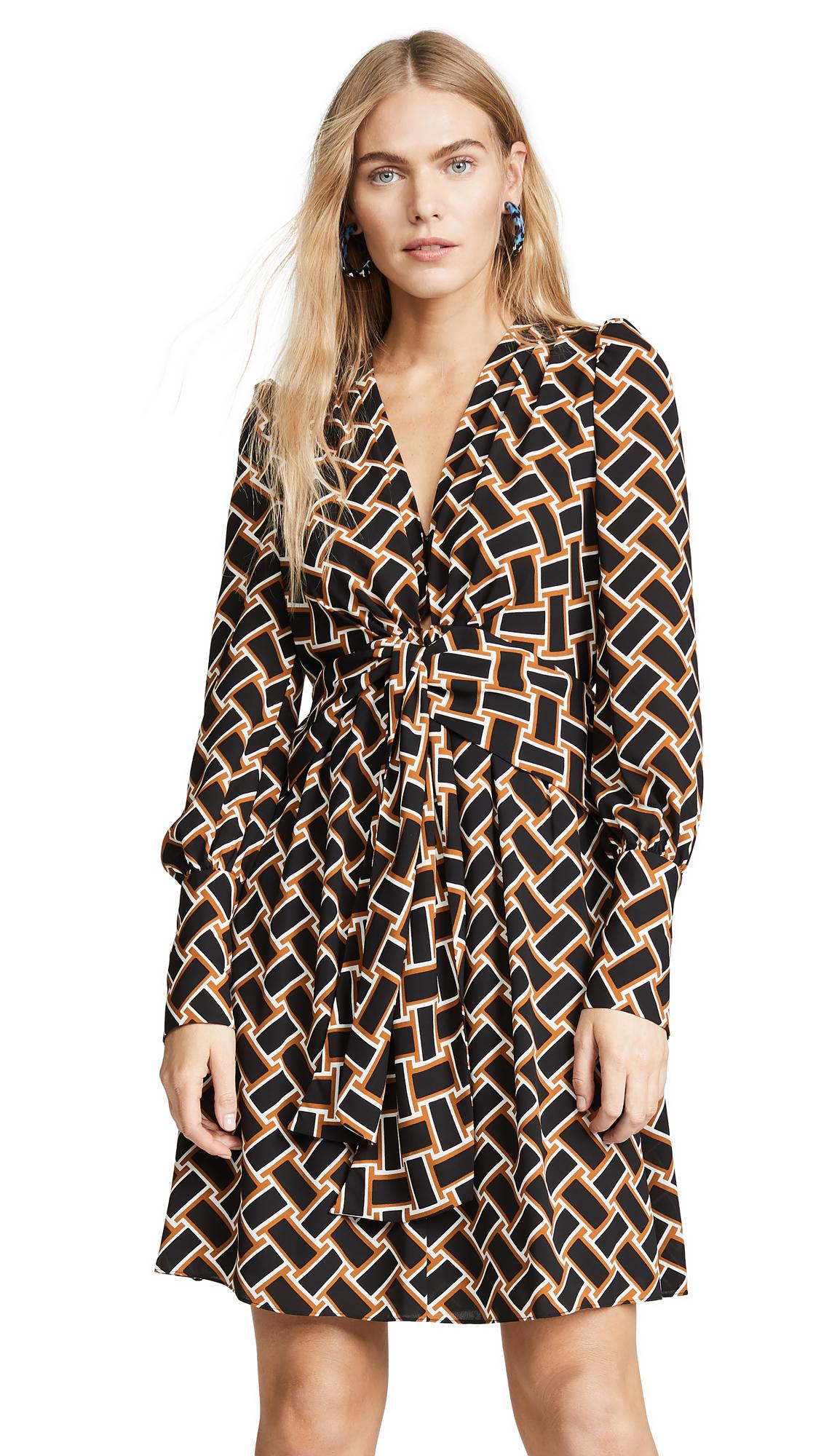 Diane von Furstenberg Maddi Dress - Vintage Weave Cognac