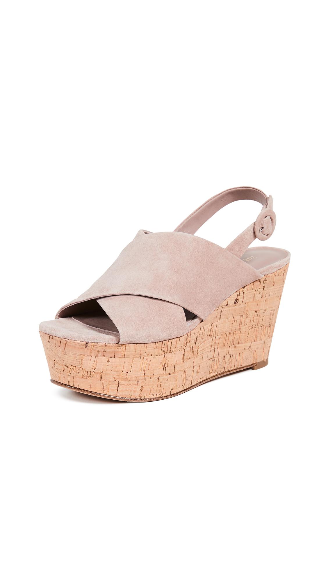 Diane von Furstenberg Juno Wedge Sandals - Powder