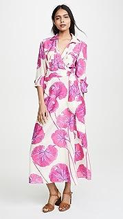 Diane von Furstenberg Collared Floor Length Dress