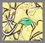 Небольшие зеленовато-желтые разноцветные лимоны