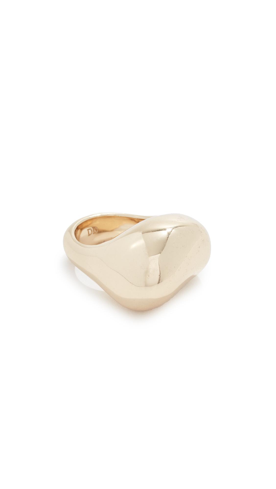 DINOSAUR DESIGNS Pebble Ring in Brass