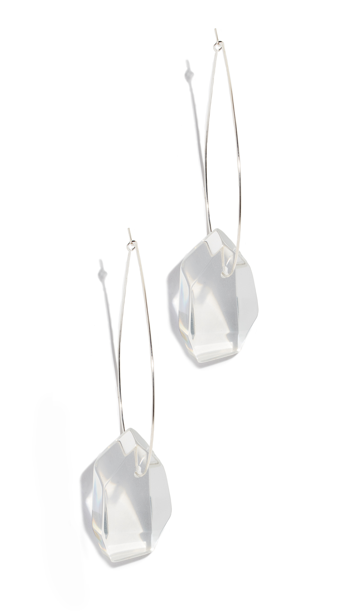 DINOSAUR DESIGNS Medium Crystallized Earrings in Clear