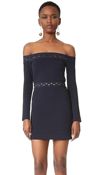 Dion Lee Мини-платье Eclipse с длинными рукавами