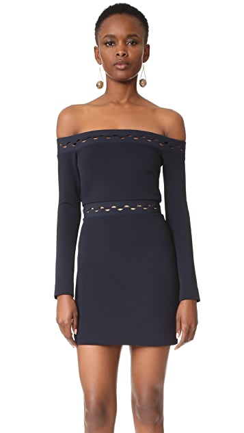 Dion Lee Eclipse Long Sleeve Mini Dress