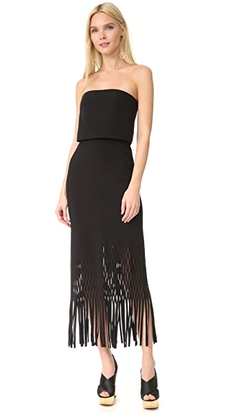 Dion Lee Strapless Crepe Dress