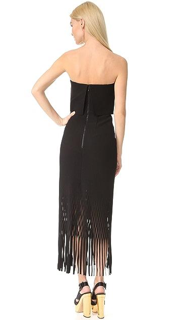 Dion Lee Strapless Crepe Dress
