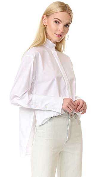 Dion Lee Frayed Shirt - White