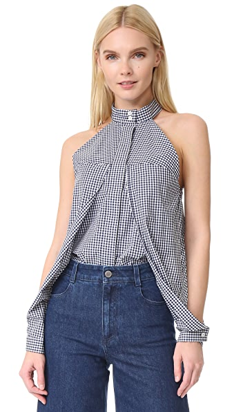 Dion Lee Sleeve Release Shirt - Gingham