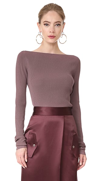 Dion Lee Pinacle Horizontal Top - Ash Rose