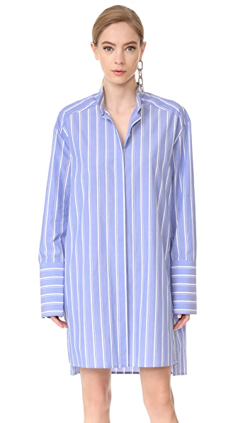 Dion Lee Tunic Shirt - Blue Stripe