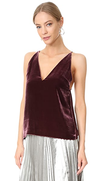 Dion Lee Velvet Cami - Wine