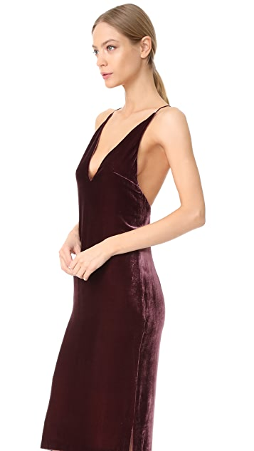 Dion Lee Silk Velvet Cami Dress