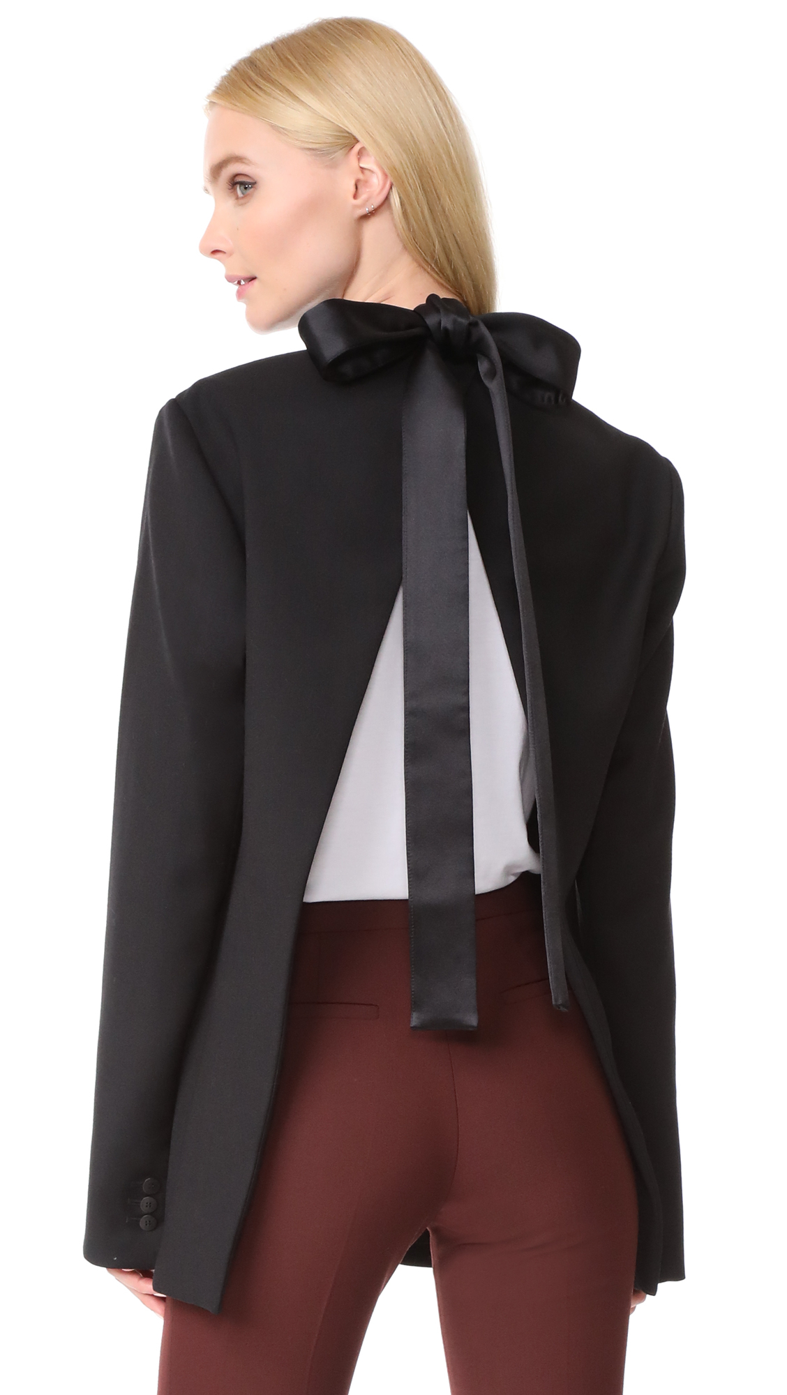 Dion Lee Lapel Tie Blazer - Black