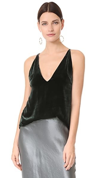 Dion Lee Velvet Cami - Deep Green