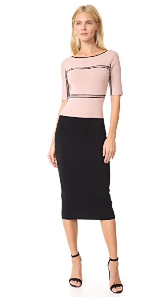 Dion Lee Cap Sleeve Dress In Muted Pink/Black