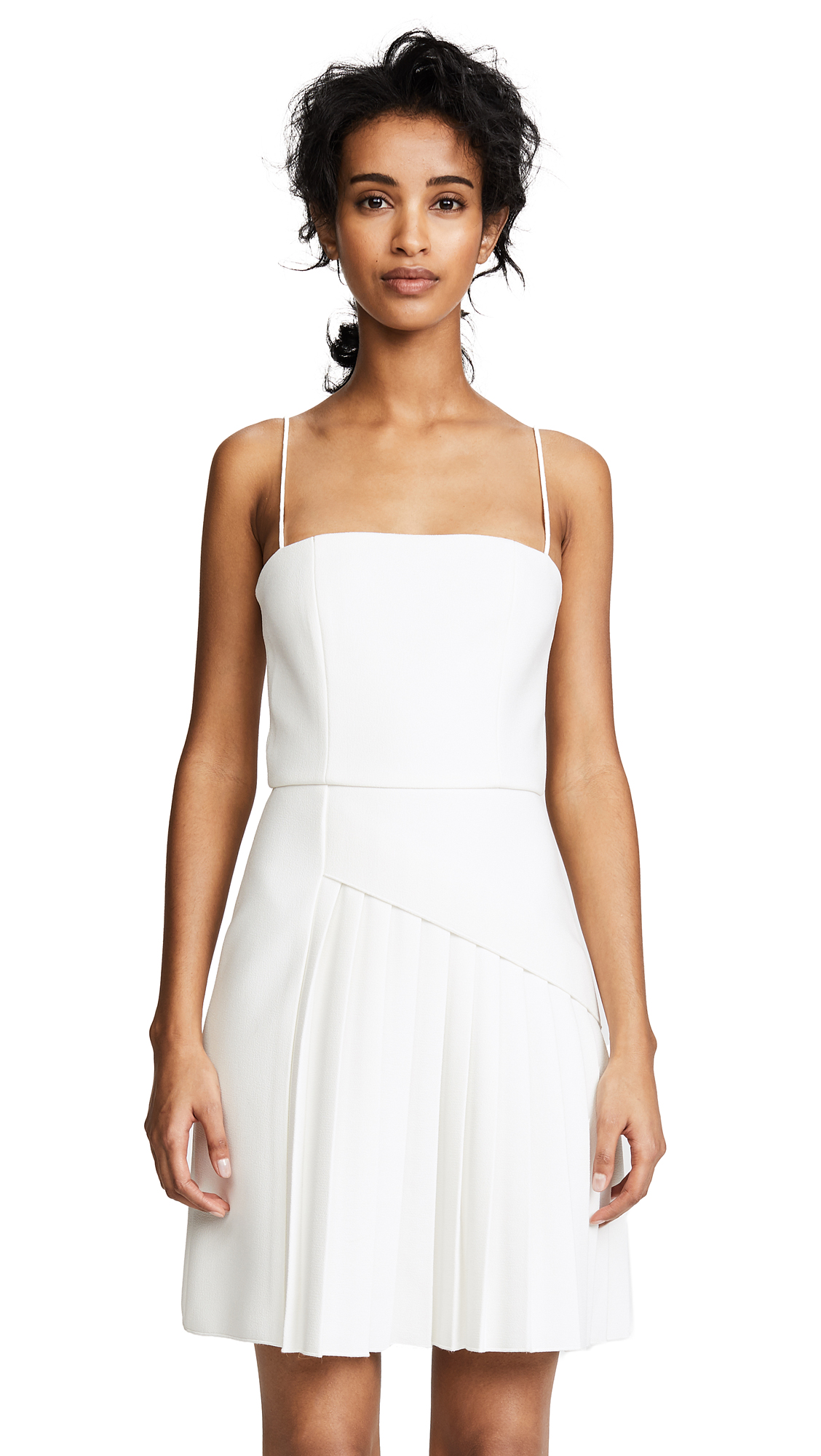 Dion Lee Coil Pleat Dress - Ivory