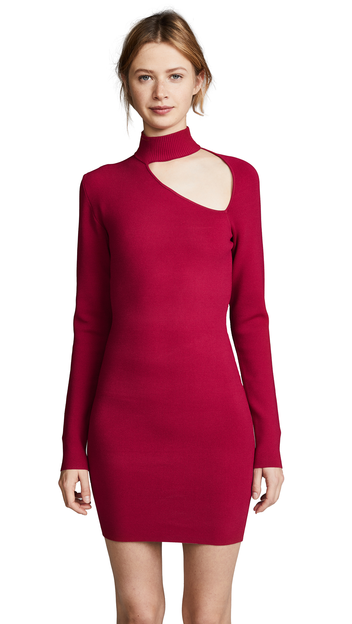 Dion Lee Spiral Sleeve Mini Dress In Cherry