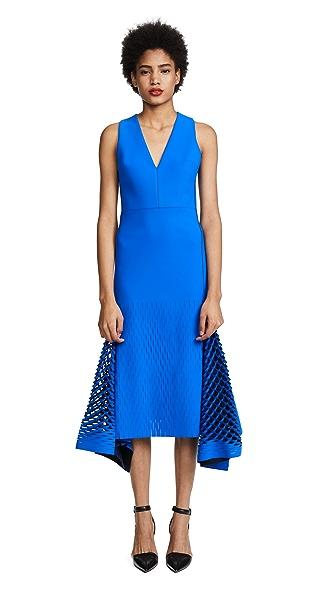 Dion Lee Bias Perf Dress In Default Blue