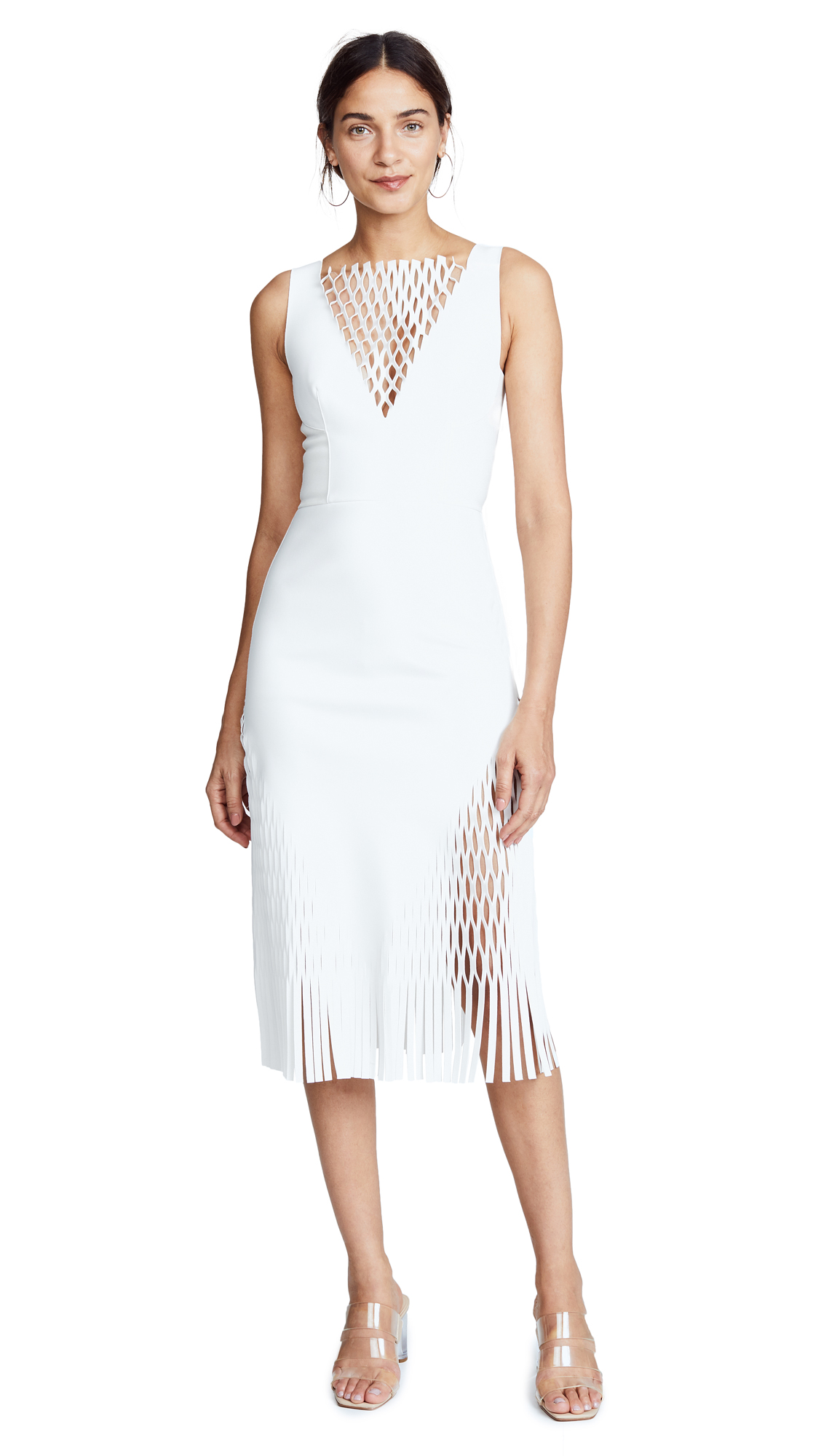 Dion Lee Mirror Dress In Ivory
