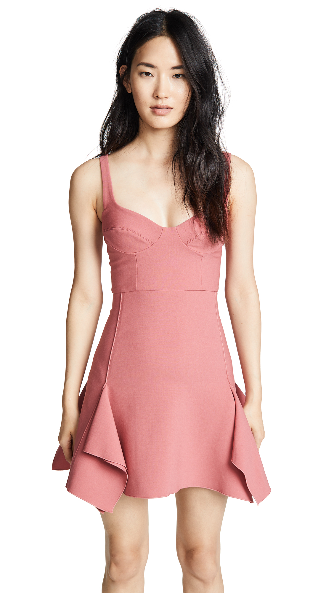 Dion Lee Bustier Box Ruffle Mini Dress