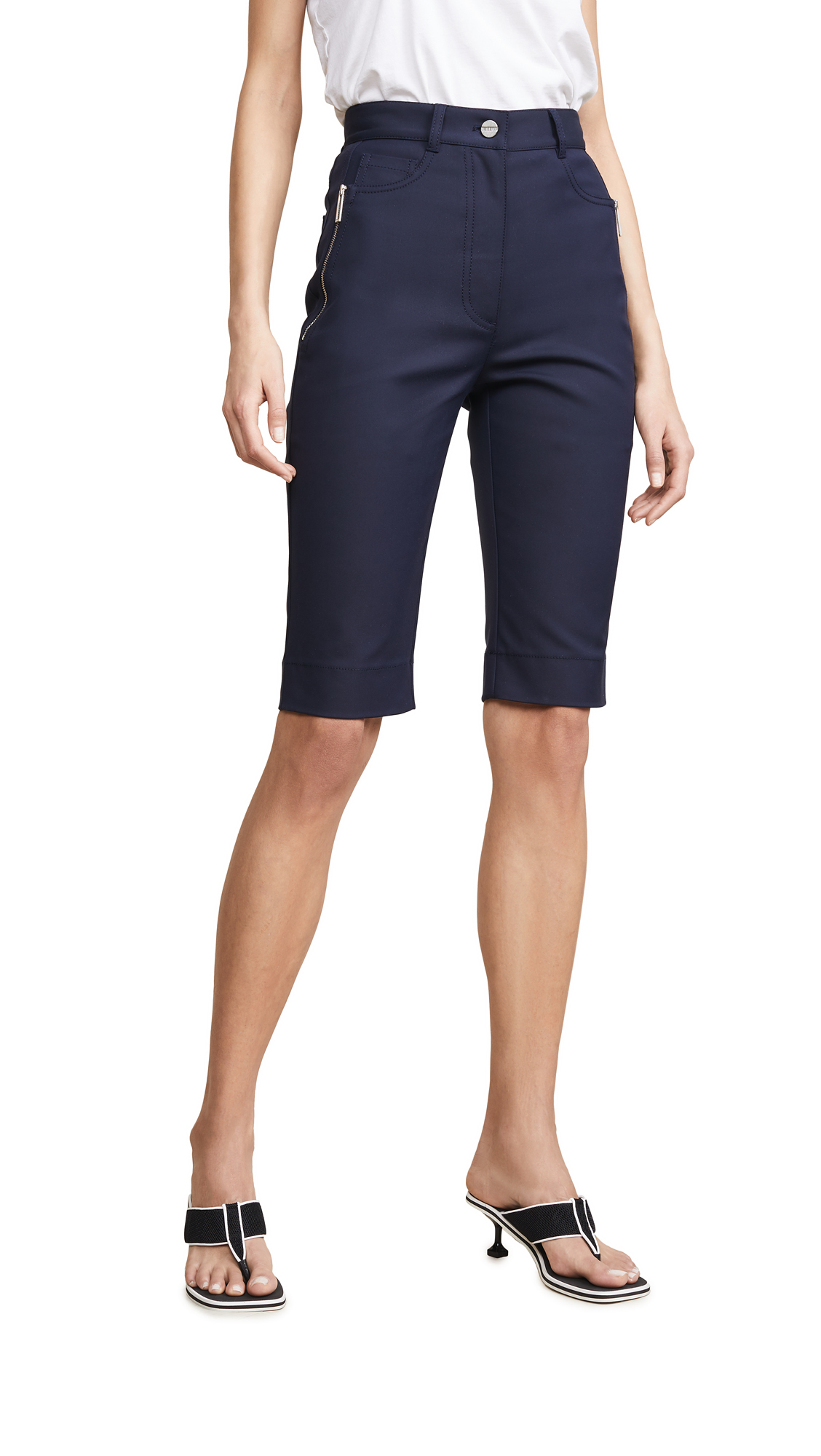 Dion Lee Highwaisted Jean Shorts - Navy