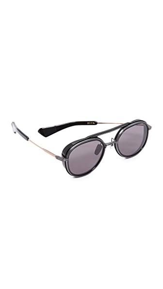 DITA Spacecraft Sunglasses In Black Iron/Rose Gold