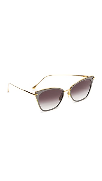 DITA Arise Sunglasses In Black Rhodium Gold/Dark Gray