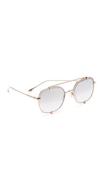 DITA Talon Two Sunglasses In Rose Gold/Milky Gold