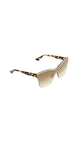 DITA Silica Sunglasses In Gold/Brown
