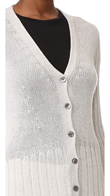 Derek Lam Flared Cashmere Cardigan with Bell Sleeves
