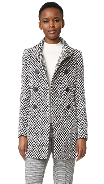 Derek Lam Double Breasted High Collar Coat