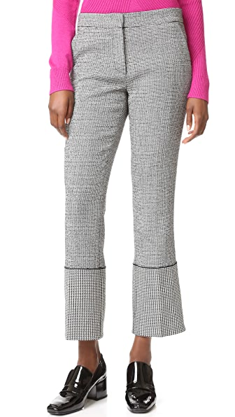 Derek Lam Wide Cuff Slim Trousers