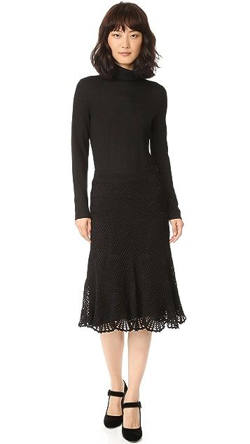 Derek Lam Embroidered Skirt