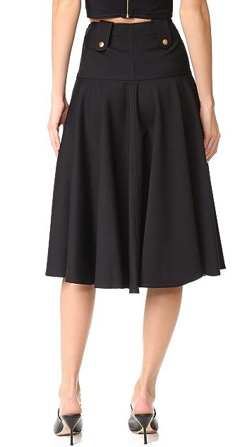 Derek Lam Flared Midi Skirt