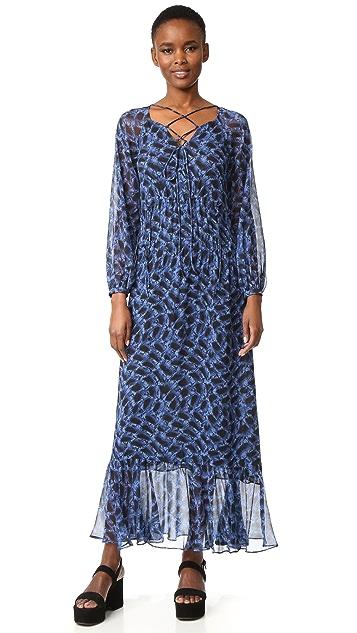 Derek Lam Lace Up Dress