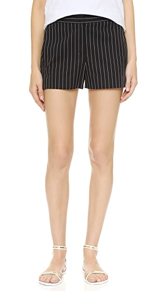 Dkny Elastic Waist Shorts - Black/White at Shopbop