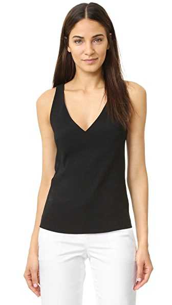 Dkny Cross Back Shirt - Black at Shopbop