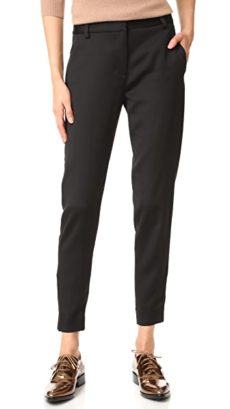 Dkny Tailored Relaxed Pants - Black at Shopbop