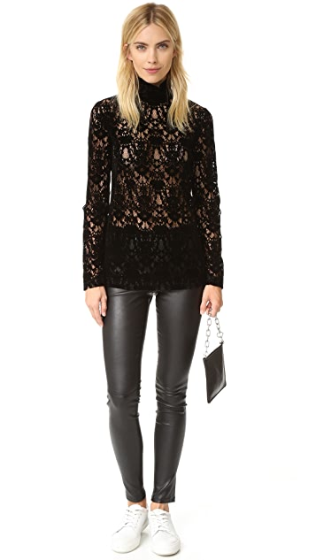 DKNY Velvet Lace Turtleneck
