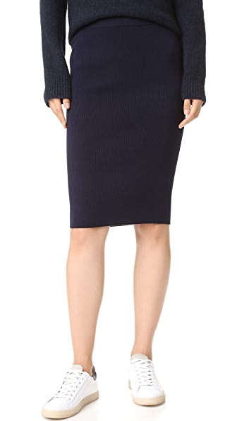 Dkny Ribbed Tube Skirt - Classic Navy at Shopbop