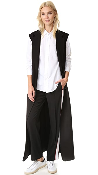 Dkny Long Double Breasted Vest - Black at Shopbop