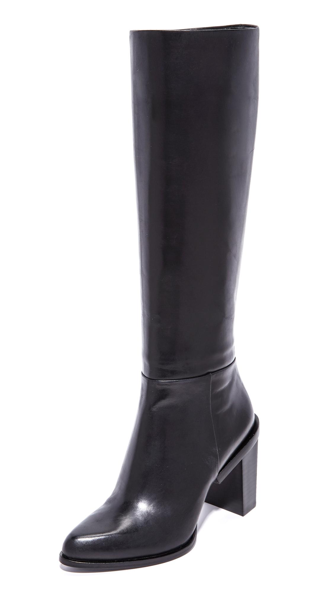 Dkny Pilar Knee High Pointy Boots - Black