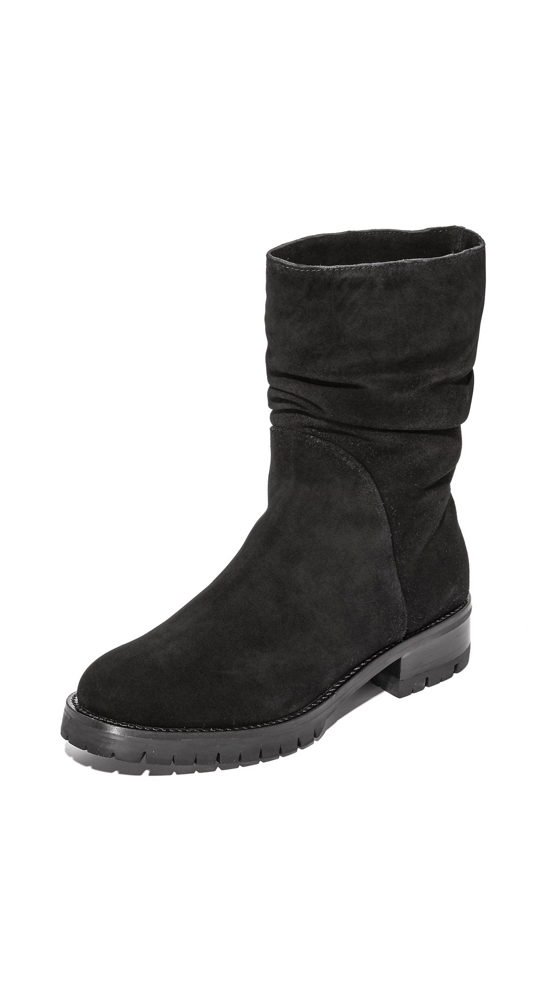 Dkny Marley Shearling Riding Boots - Black