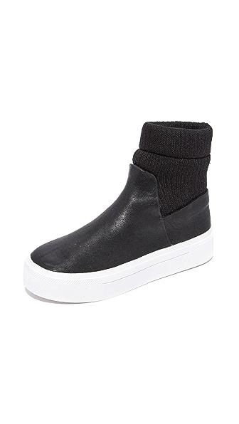 Dkny Beverly Platform Sneaker Booties - Black at Shopbop