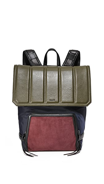 Dkny Backpack - Navy/Olive/Oxblood at Shopbop