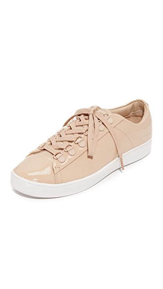 DKNY Brayden D Ring Classic Court Sneakers - Nude